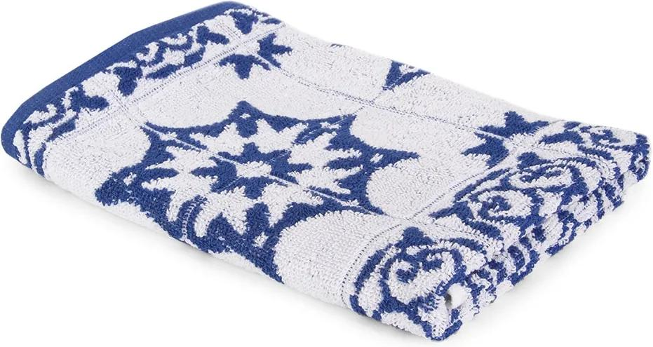Kuchynský uterák Mozaika modrý modra