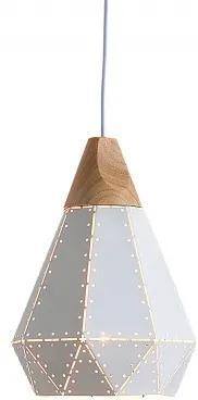 Závěsné světlo Covely 22 cm, bílá/dřevo Sin:37706 CULTY HOME +