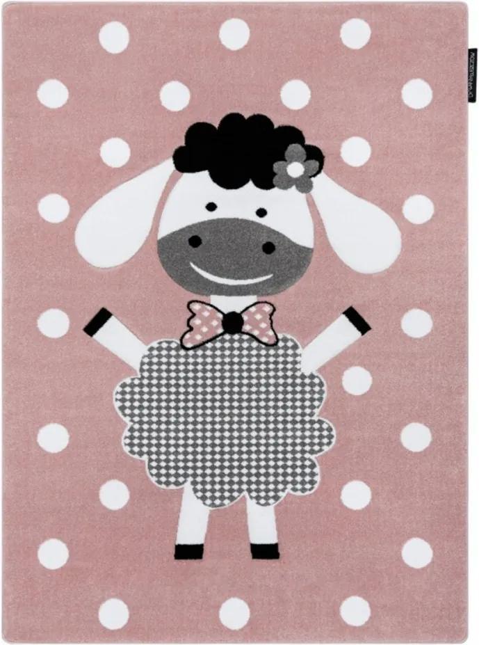 Detský kusový koberec Ovečka ružový, Velikosti 180x270cm