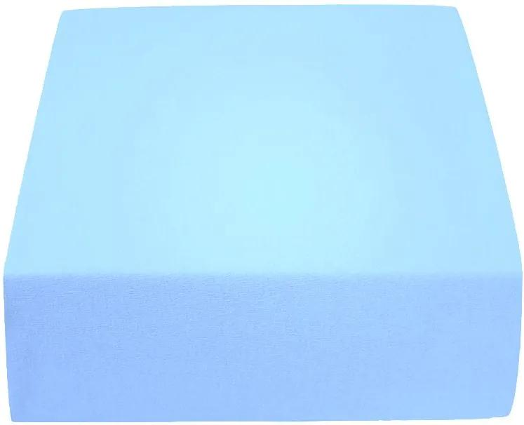 Jersey do detskej postieľky 160 g/m2 svetlo modré