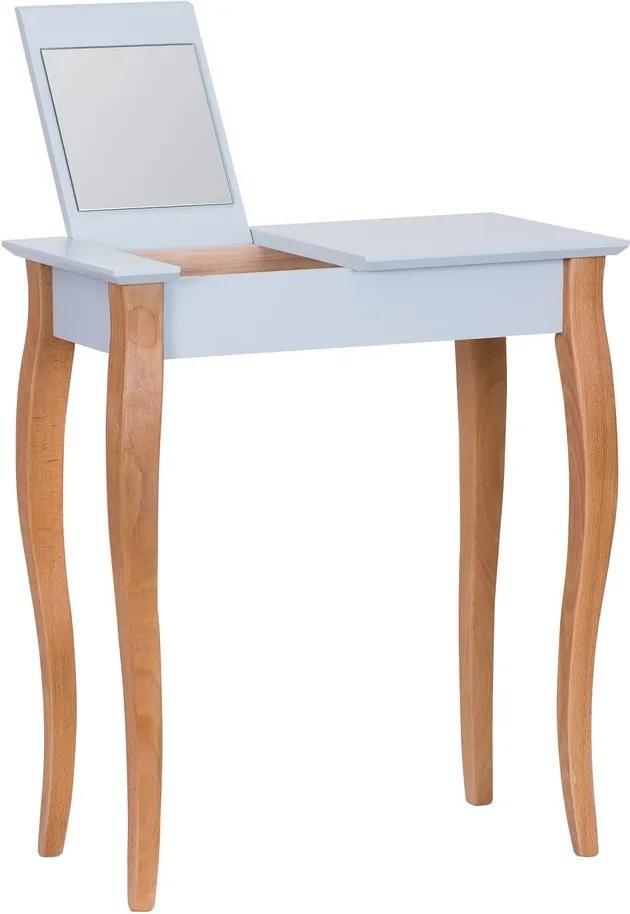 Svetlosivý toaletný stolík so zrkadlom Ragaba Dressing Table, dĺžka 65 cm