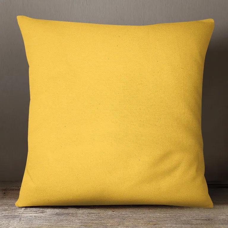 Goldea dekoračná obliečka na vankúš loneta - sýto žltá 45 x 45 cm