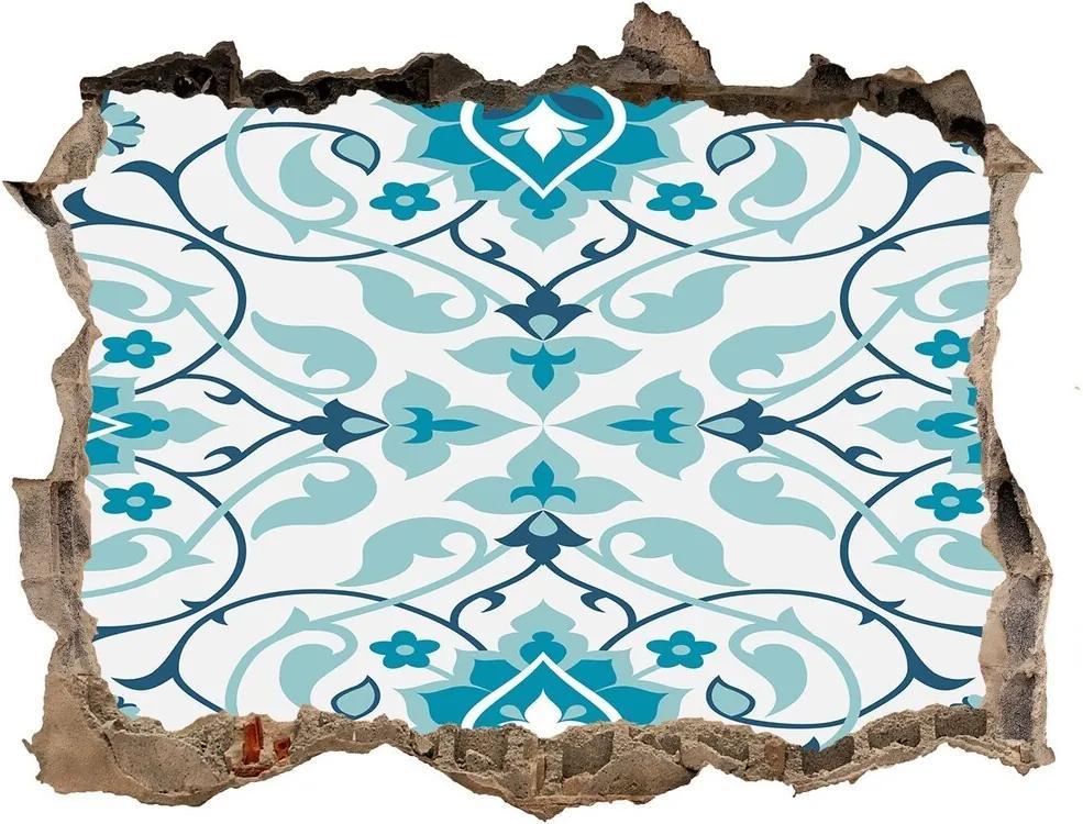 Nálepka 3D díra na zeď Arabský vzor WallHole-95x64-kamien-122407465
