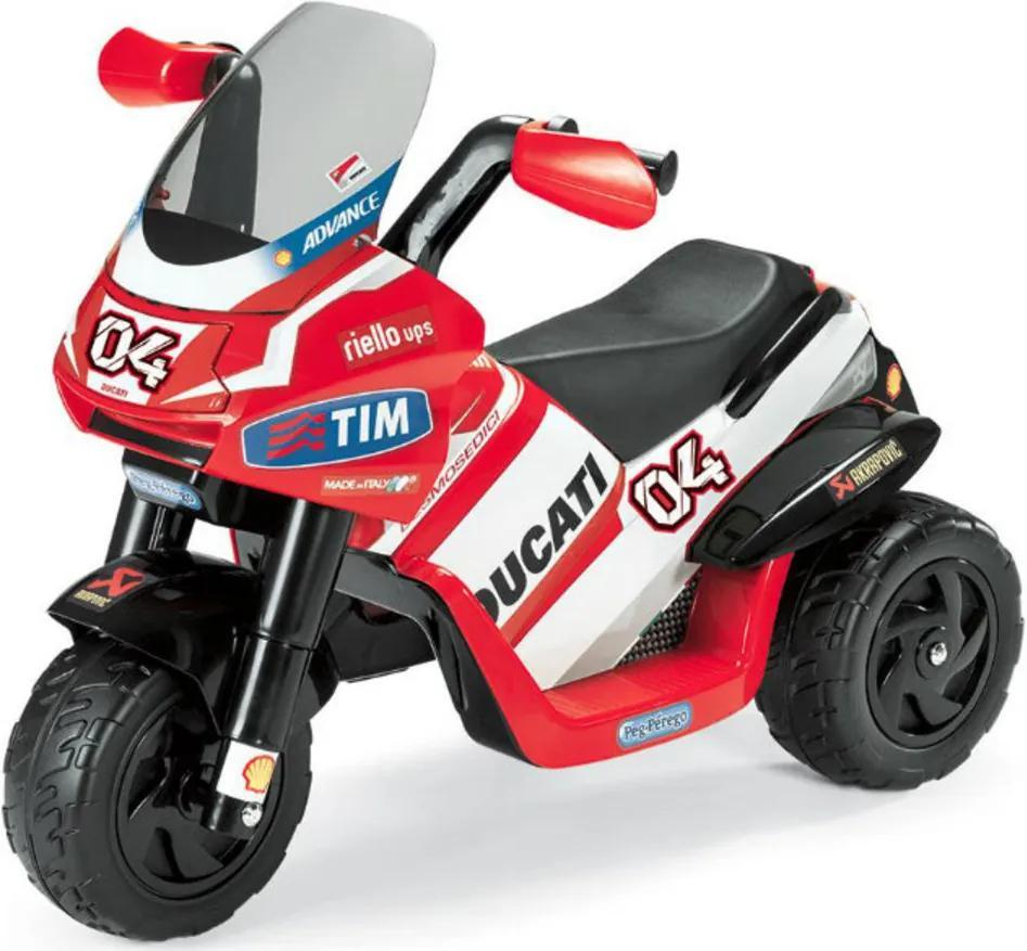 Detská elektrická trojkolka Peg Perégo - Ducati Desmosedici IGED0918 - červená