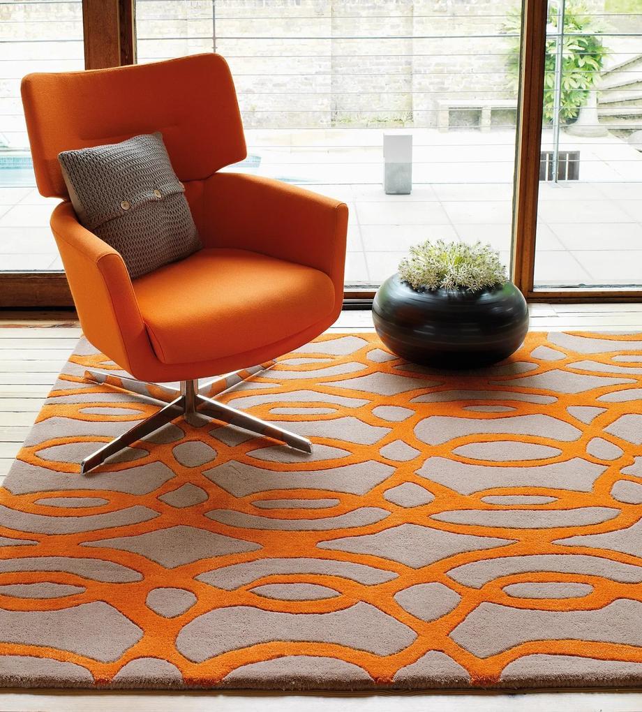 Masiv24 - Matrix koberec 120x170cm MAX37 Wire - oranžová