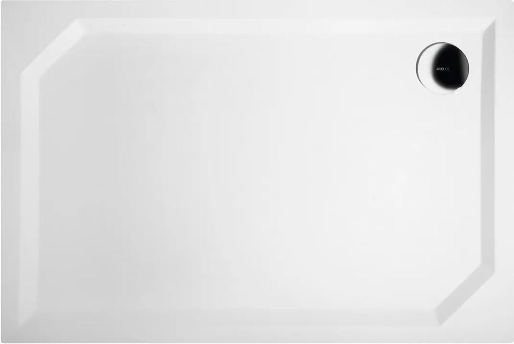 GELCO - SARA sprchová vanička z liateho mramoru, obdĺžnik 110x75x3,5 cm, hladká (HS11075)