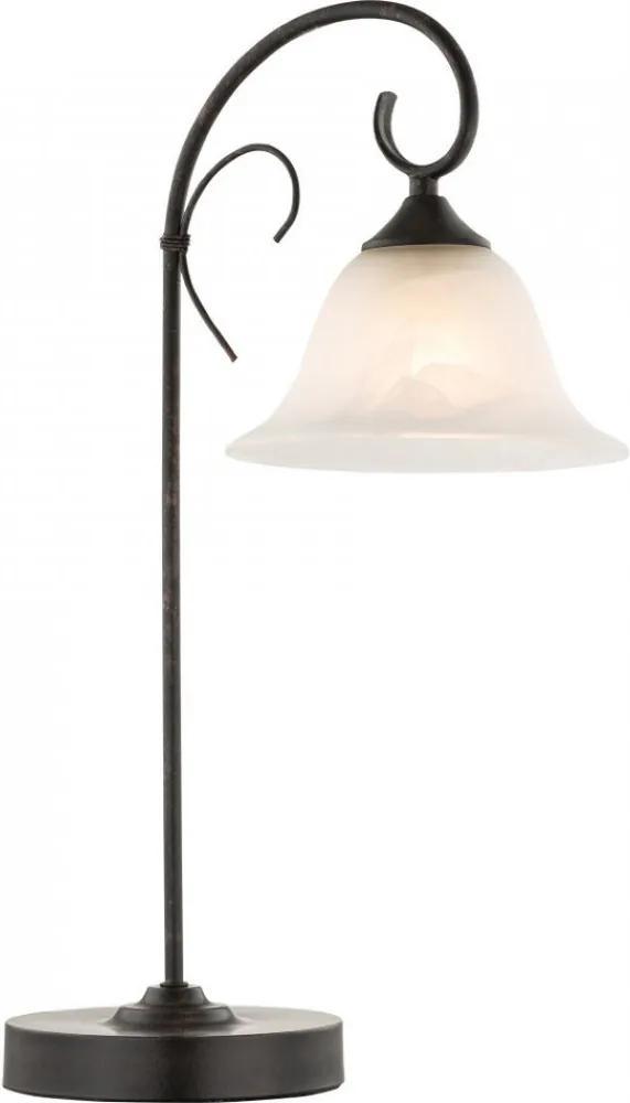 Globo ARIES 68410-1T Nočná stolová lampa rust 1 x E27 max. 60w 52 x 19 x 33 cm