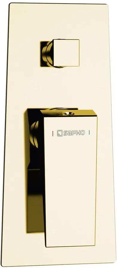 SAPHO MORADA podomítková sprchová baterie 2 výstupy zlato MR42ZL