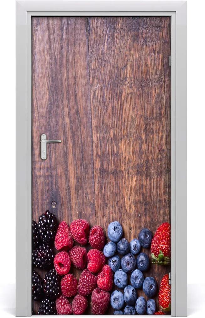 Fototapeta na dveře samolepící Lesní ovoce