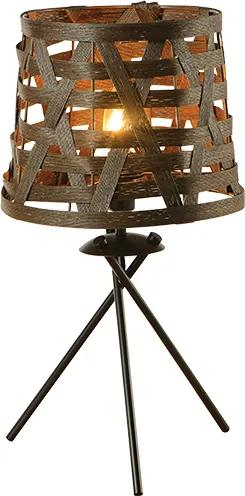 Stolná lampa Cane Brown