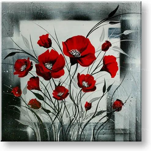 Ručne maľovaný obraz DeLUXE -  KVETY 1 dielny 078D1