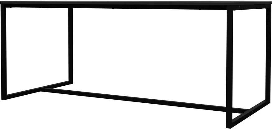 Čierny jedálenský stôl s kovovými nohami v čiernej farbe Tenzo Lipp