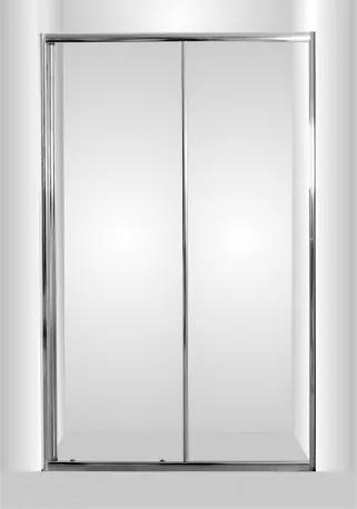 HOPA - Sprchové dveře do niky SMART - SELVA - Univerzální, Hliník chrom, Čiré bezpečnostní sklo - 4 / 6 mm, 100 cm (OLBSEL10CCBV)