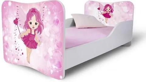 MAXMAX Detská posteľ MALÁ VÍLA + matrac ZADARMO 140x70 pre dievča NIE