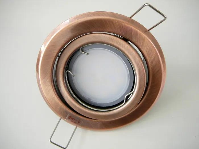 T-LED LED bodové svetlo do sadrokartónu 5W antik - meď 230V výklopné Farba svetla: Teplá biela