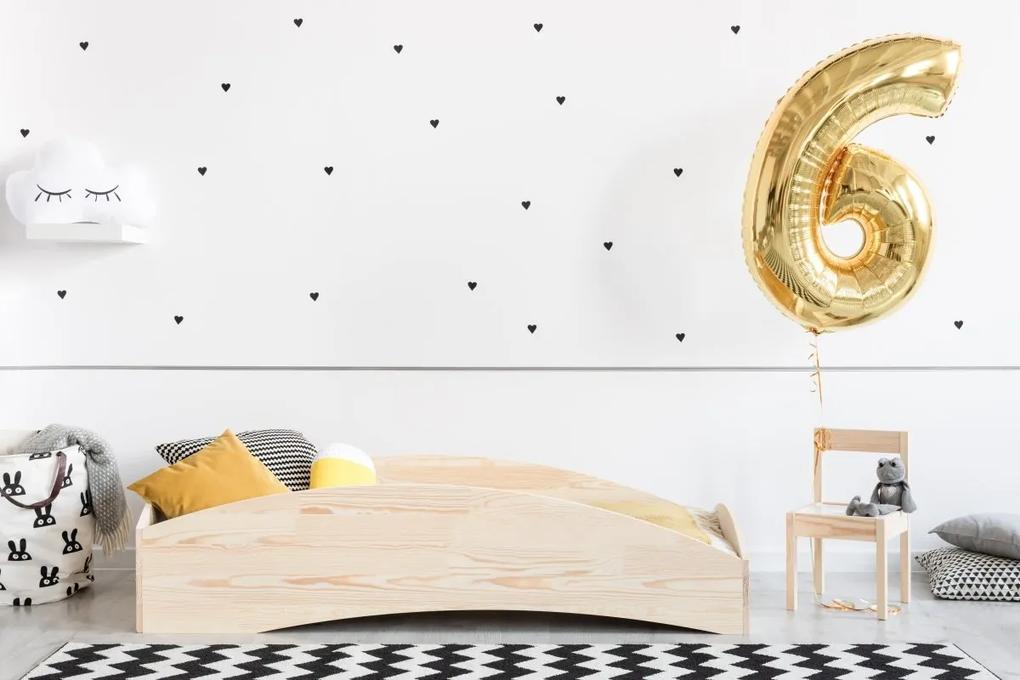 MAXMAX Detská posteľ z masívu BOX model 6 - 140x70 cm