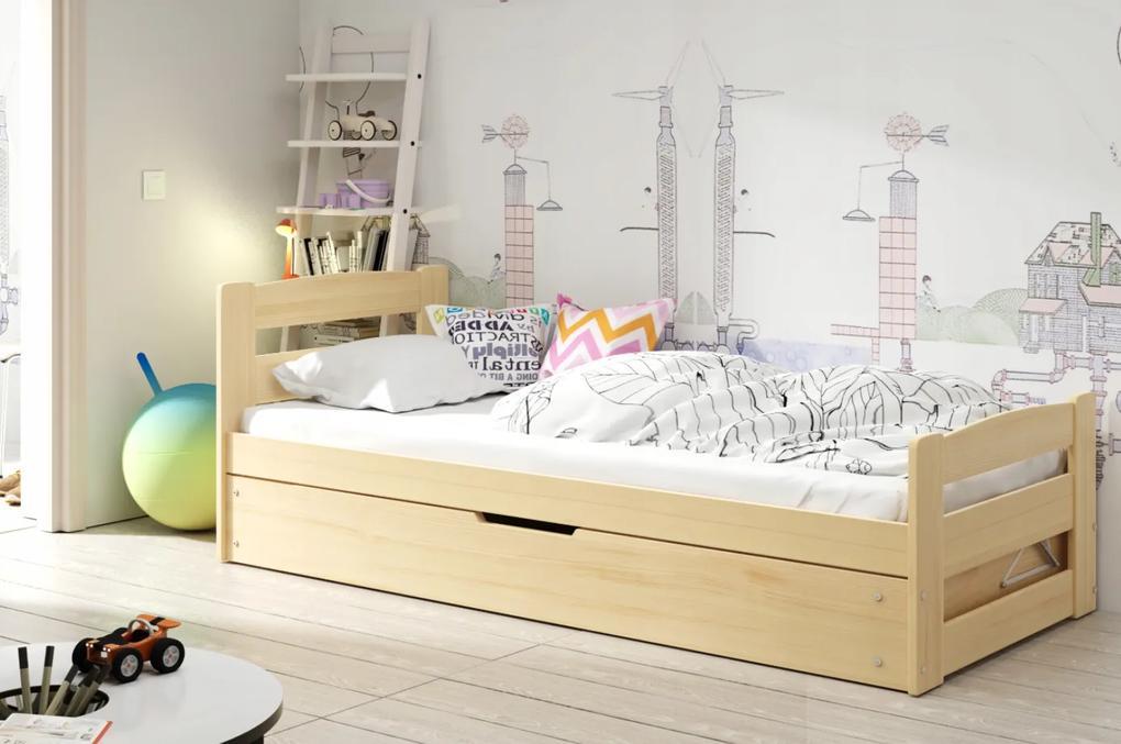 Vyklápacia posteľ ERNIE - 200x90cm BOROVICA
