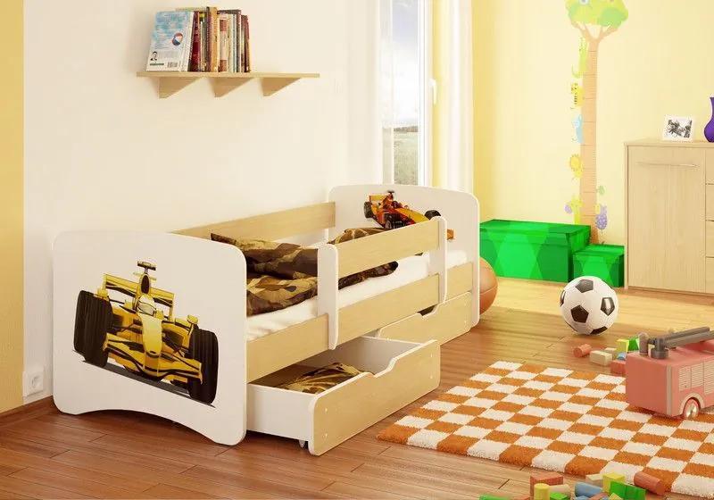 MAXMAX Detská posteľ FORMULA funny 160x80 cm - bez šuplíku 160x80 pre chlapca NIE
