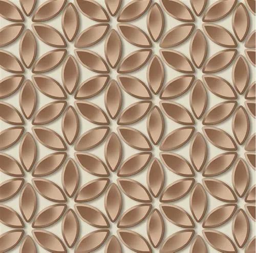 Vliesové tapety na stenu  Hexagone L52208, rozmer 10,05 m x 0,53 m, kvety medené, Ugépa