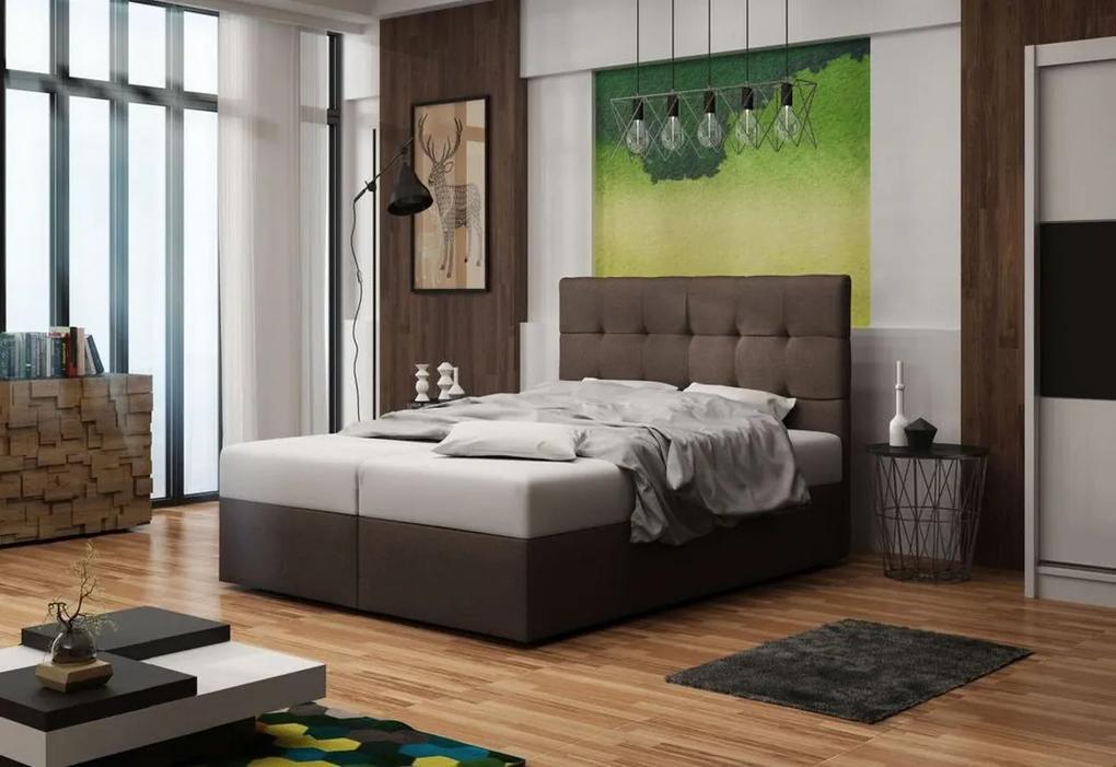 Expedo Čalúnená posteľ DOUBLE 2, cosmic 800, 140x200 cm