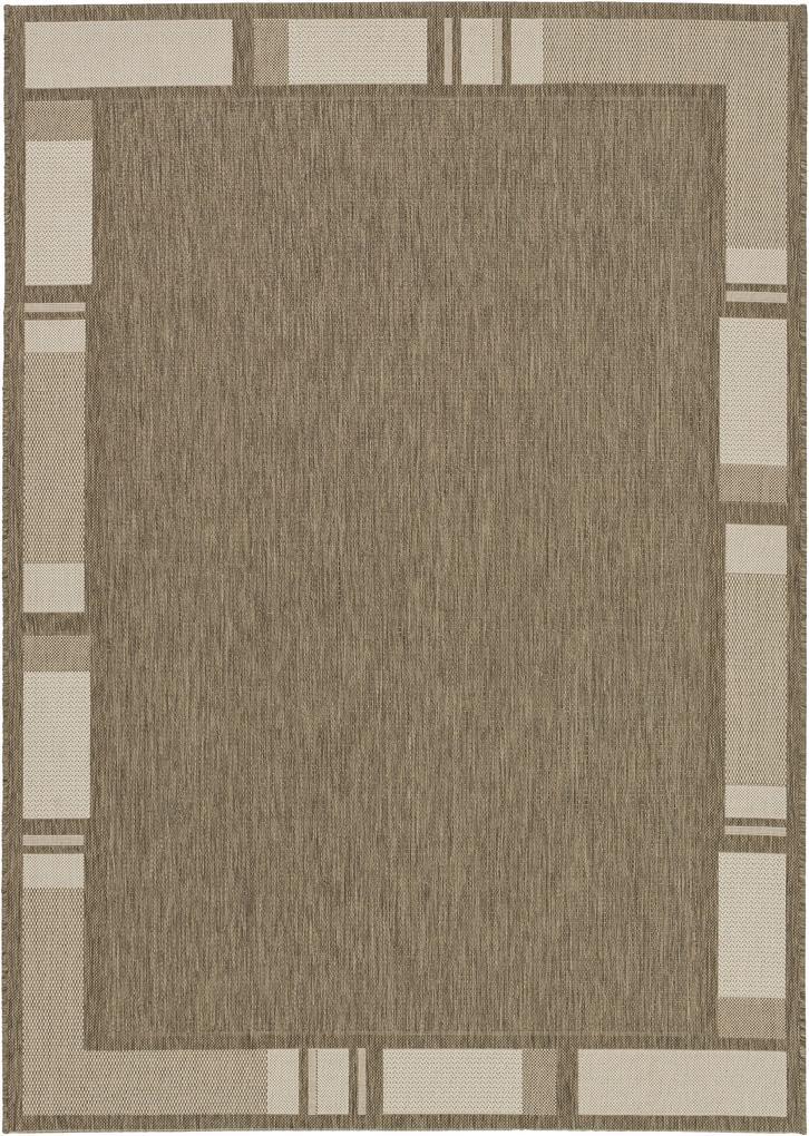 Astra - Golze koberce Kusový koberec Andria 171084 Border Taupe/Champagner - 160x230 cm