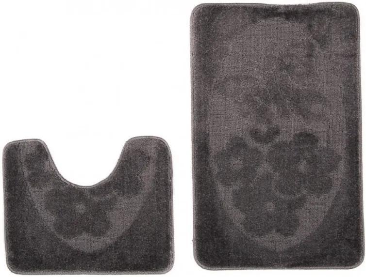 Kúpeľňové predložky 1125 tmavo šedé 2 ks, Velikosti 50x80cm