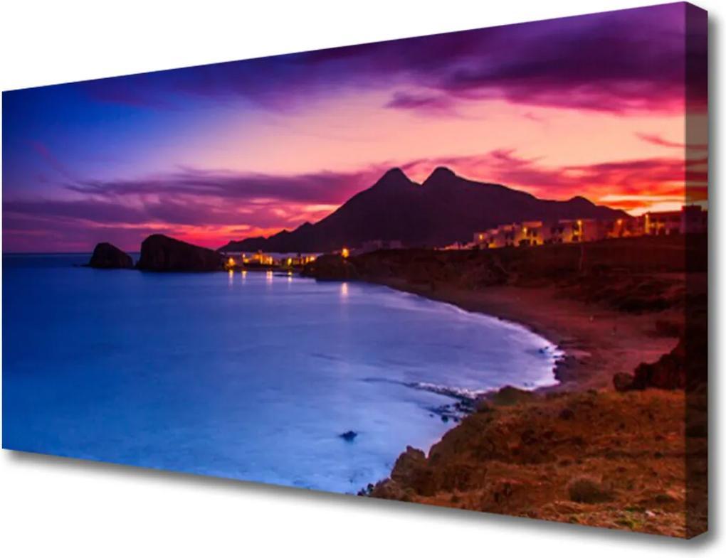 Obraz na plátně Moře pláž hory krajina