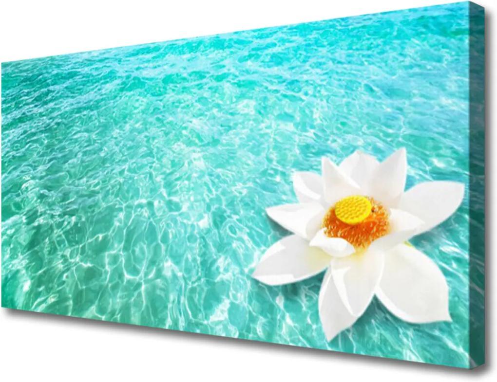 Obraz Canvas Skleněný voda květ umění
