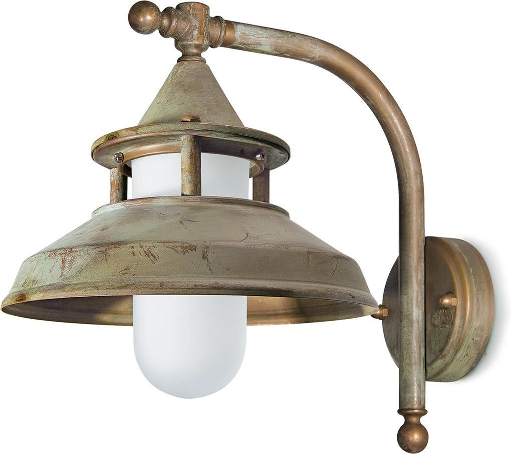 Vonkajšie nástenné svietidlo Antique 30cm mosadz