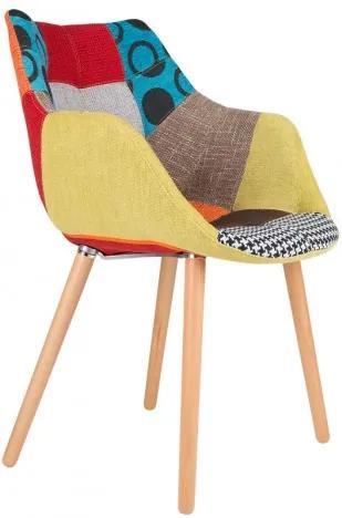 Židle/křeslo Twelve Patchwork barevné Zuiver 1100266
