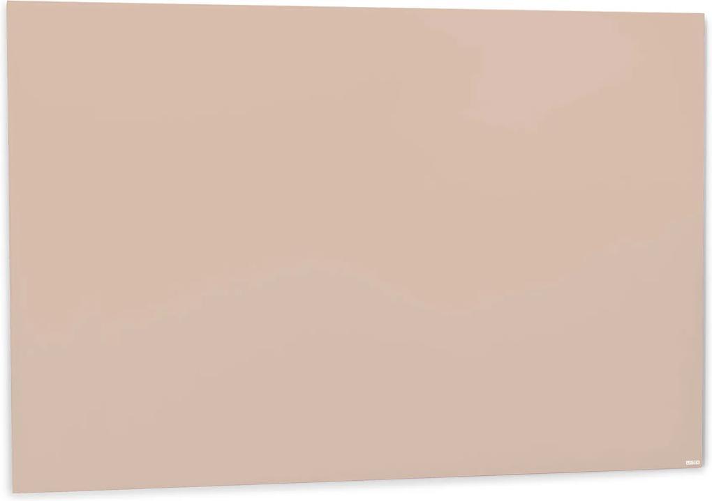 Sklenená magnetická tabuľa Stella, 1500x1000 mm, pastelová ružová