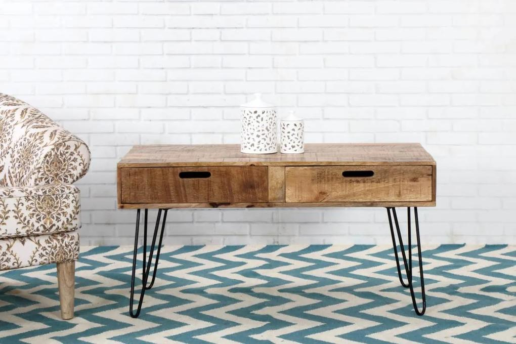 Dizajnový konferenčný stolík Felix 100cm mango