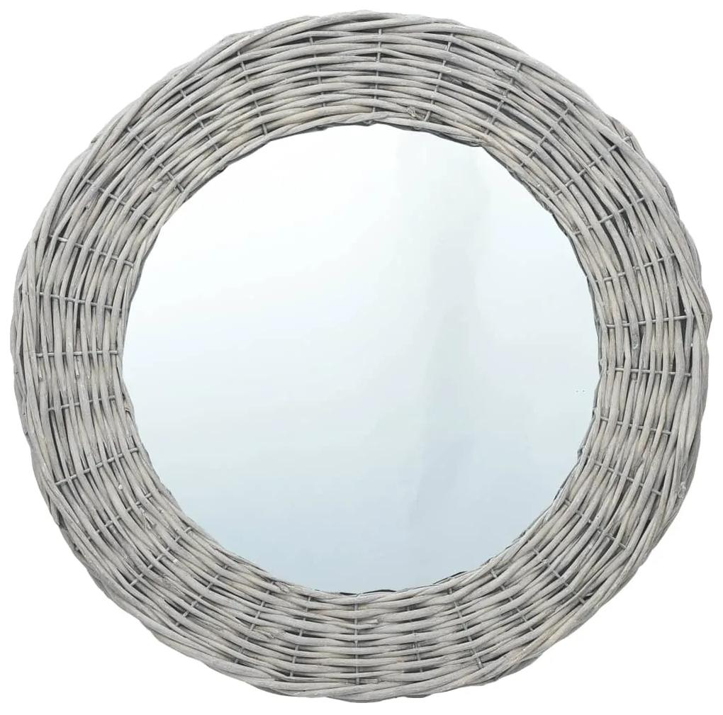 vidaXL Zrkadlo 80 cm, prútie