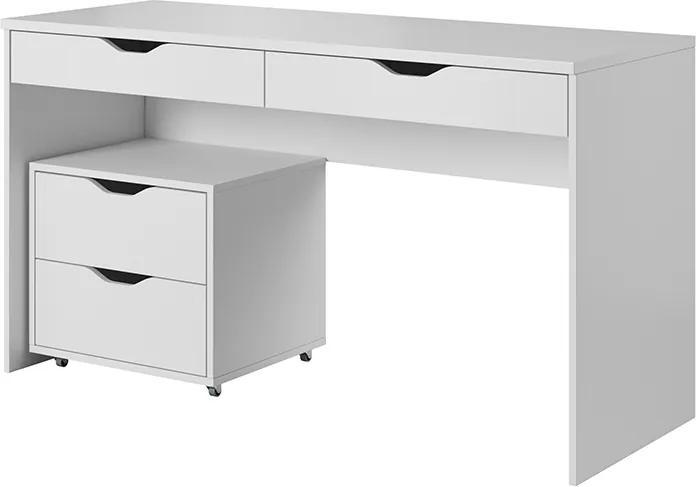 LM Písací stôl Helix s kontajnerom