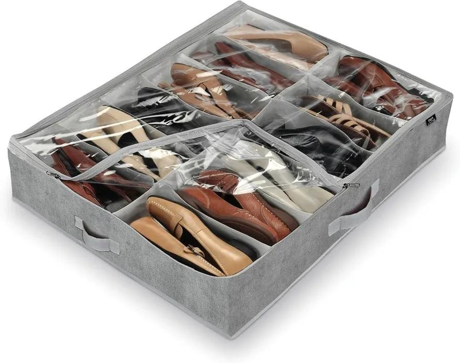 Sivý organizér na 12 párov topánok Domopak Shoes