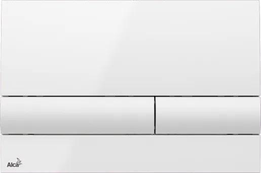 Ovládacie tlačidlo Alcaplast plast biela M1710