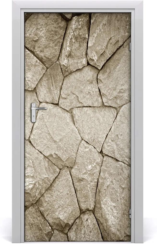 Fototapeta na dveře Stěna z kamene