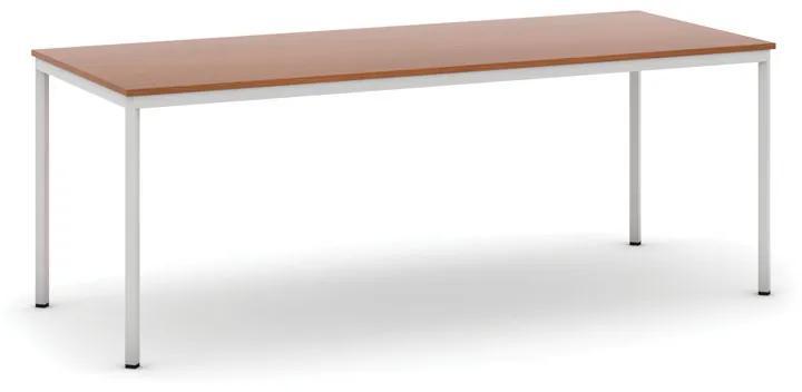 Stôl jedálenský, 2000 x 800 mm doska čereňa, podnož sv. sivá