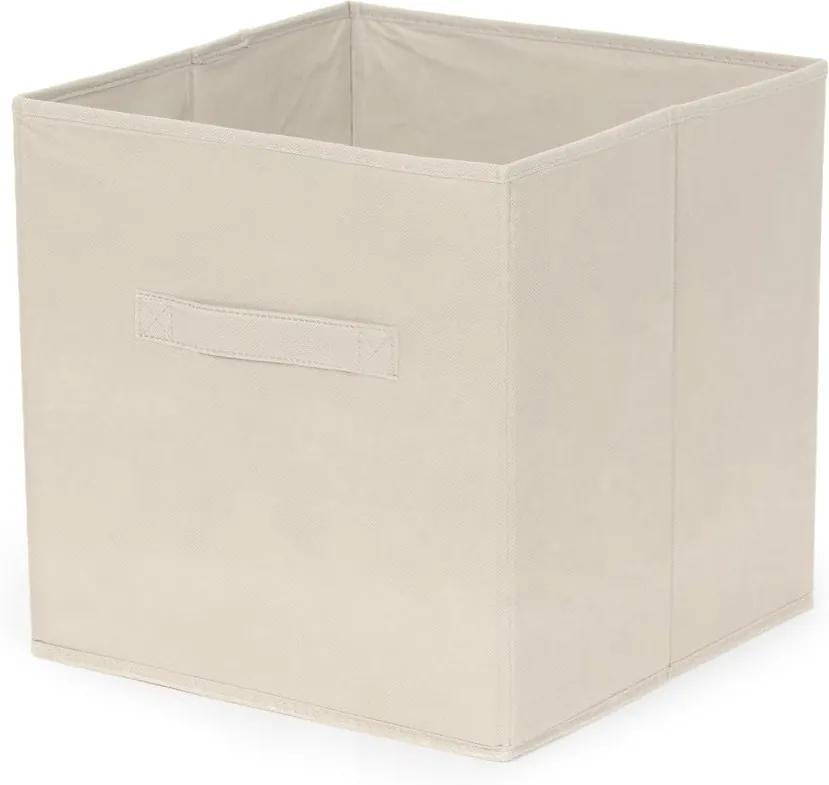 Krémový skladací úložný box Compactor Foldable Cardboard Box