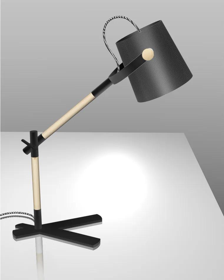 NORDICA | Elegantná stolná lampa Farba: Čierna
