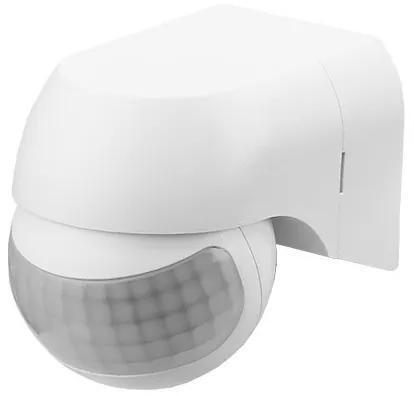 Panlux SL2300/B Nástenný pohybový senzor PIR, 230V, 12m, 180°, max 1000W, IP44, biela