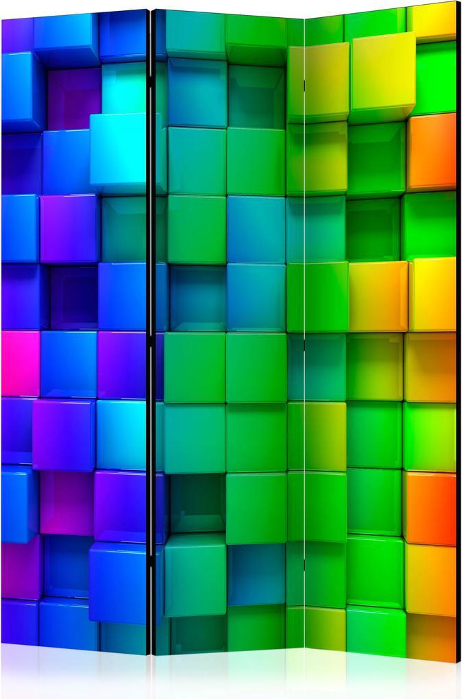 Paraván - Colourful Cubes [Room Dividers] 135x172 7-10 dní
