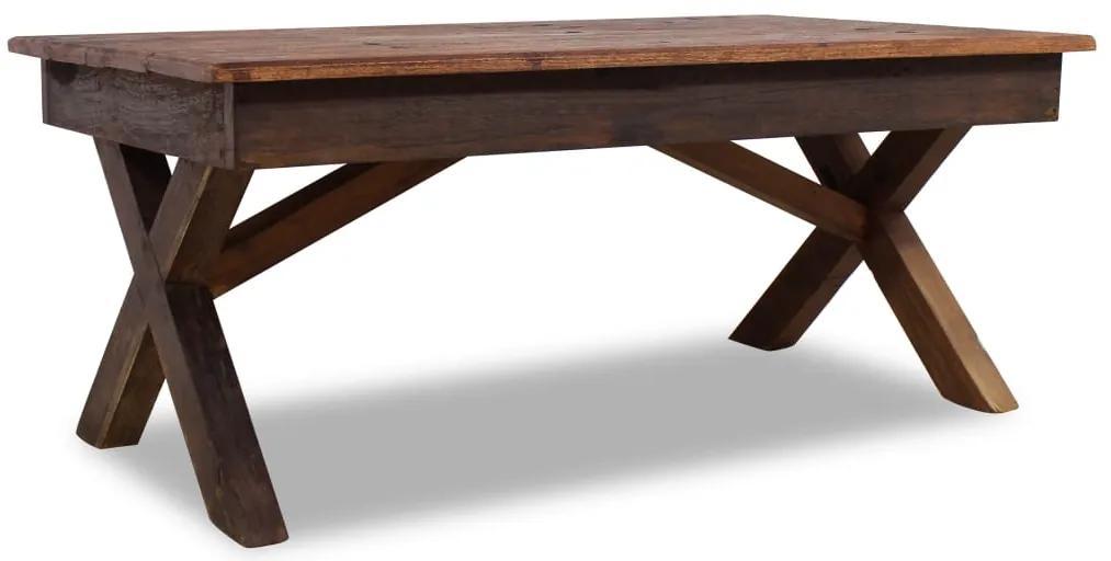 vidaXL Konferenčný stolík z masívneho recyklovaného dreva, 110x60x45 cm