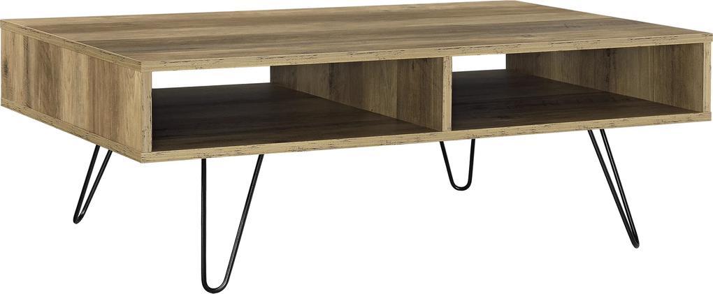 [en.casa]® Moderný konferenčný stolík AANT-0315 - imitácia dreva - 100 x 60 x 35 cm