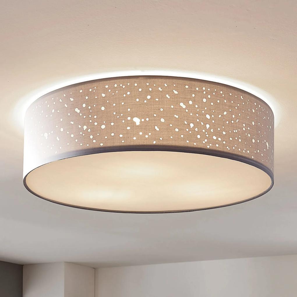 Stropná lampa Umma, priamo na strop, sivá