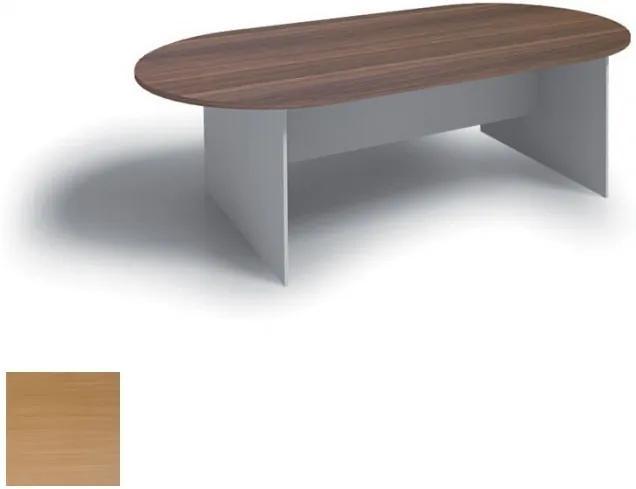 Rokovací stôl 2400 x 1200 mm, oválny, buk
