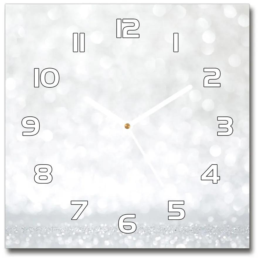 Sklenené hodiny štvorec Svetielka pl_zsk_30x30_f_73790422