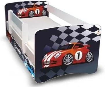 MAXMAX Detská posteľ 160x90 cm so zásuvkou - ŠPORTIAK II 160x90 pre chlapca ÁNO