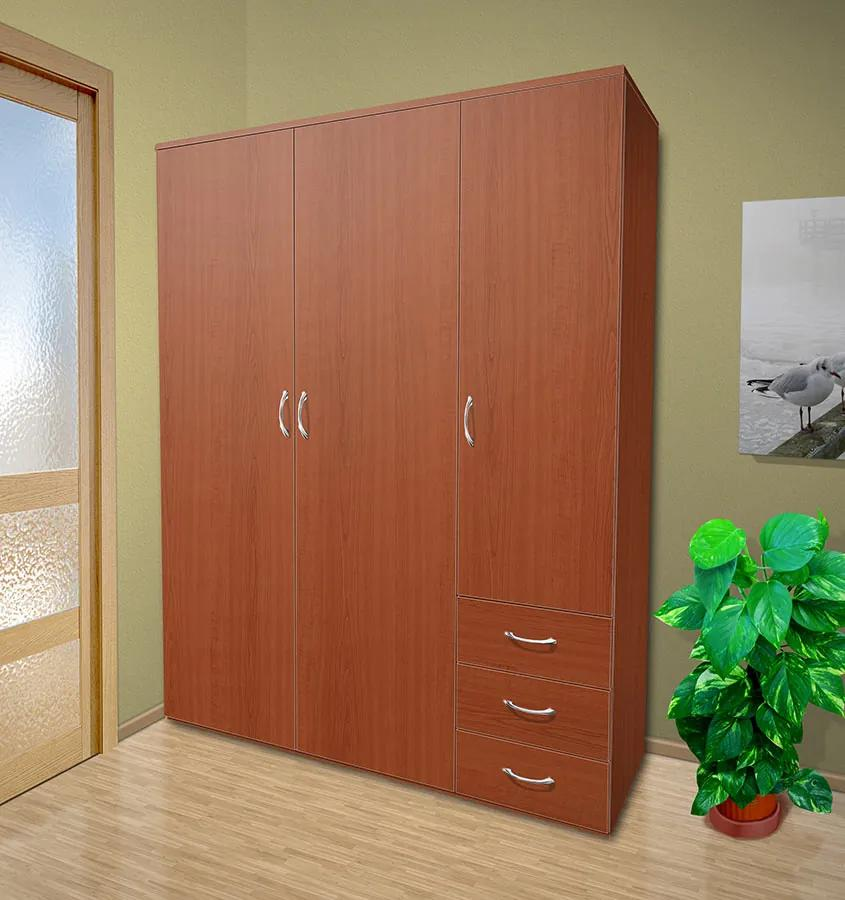 Nabytekmorava Šatníková skriňa do spálne Alfa 24 farba lamina: čerešňa talianská (třešeň italská)