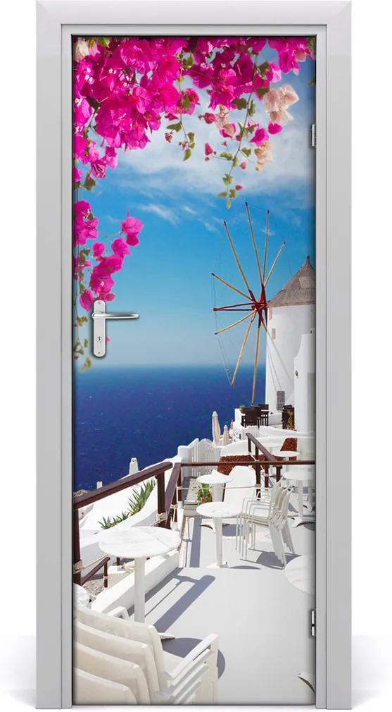 Fototapeta samolepící na dveře Santorini řecko